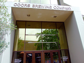 Coors Brewery entrance