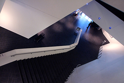 Denver Art Museum's angular stairwell
