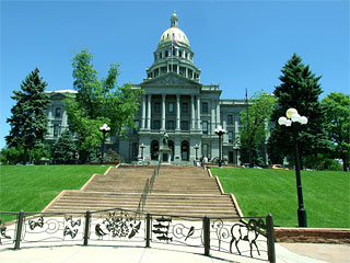 Front of Colorado State Capitol building