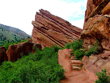 Red Stone stairs