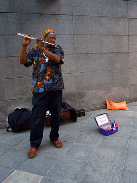 Street performer Jentry McCombs