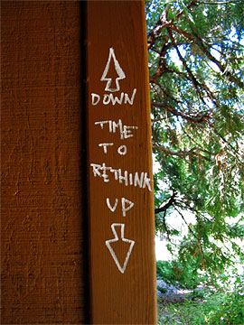 Time to Rethink Up & Down graffiti