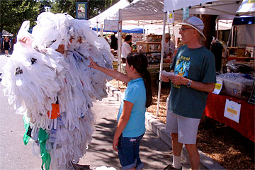 A Girl meeting the Plastic Bag Monster