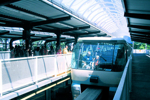 Monorail Tram near Space Needle