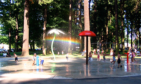 The Rainbow under the Park Fountains