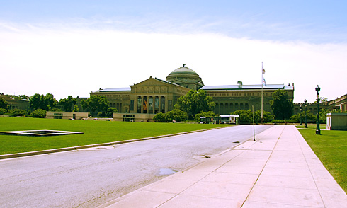 Front of Museum of Science Industry building