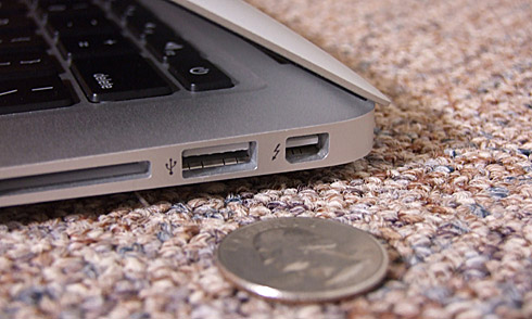 Quarter by Back Edge of MacBook Air