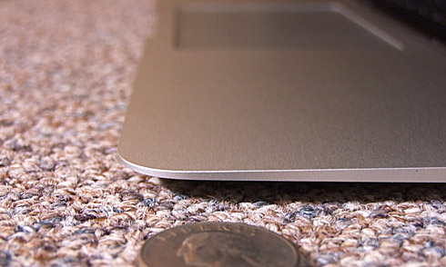 Quarter by Front Edge of MacBook Air