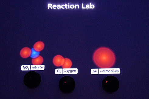 Reaction Lab showing various molecules