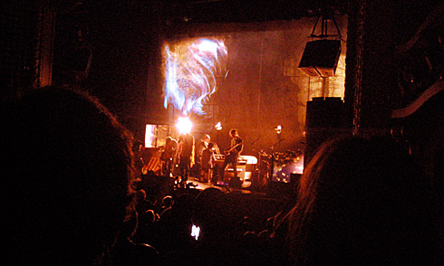 Swirling Lights above Jonsi on stage