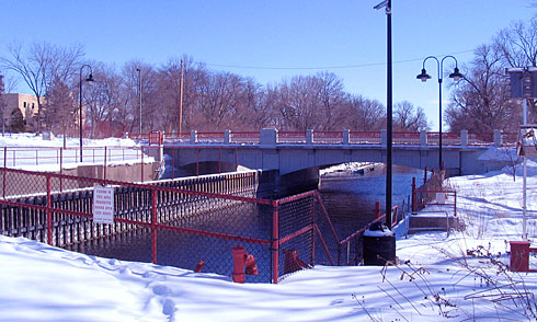 Tenney Locks in the winter