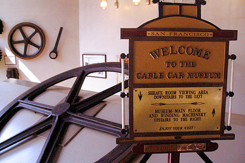 Cable Car Museum welcome sign