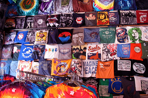Huge Haight-Ashbury shirt wall