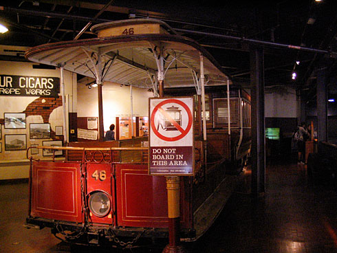 San Francisco cable car on display