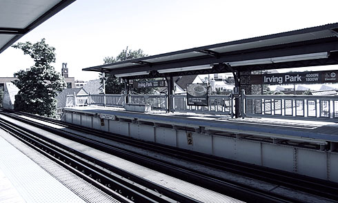 Irving Park L-Train station