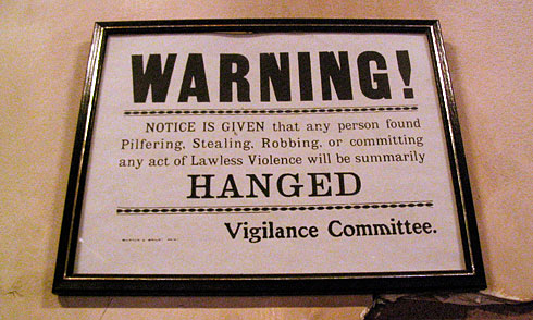 Vigilance Committee Warning sign