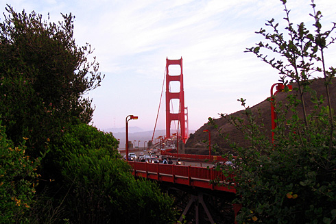 Golden Gate Bridge from Vista Point Overlook