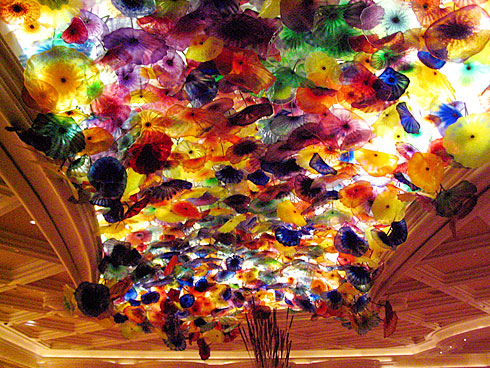 Stained-Glass flowers on the ceiling