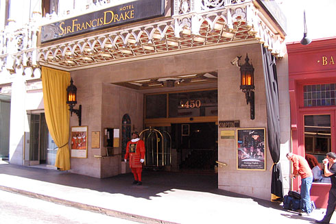 Hilarious Red-Suited Man Sir Francis Drake Hotel