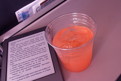 Free Mai-Tai beside Kindle