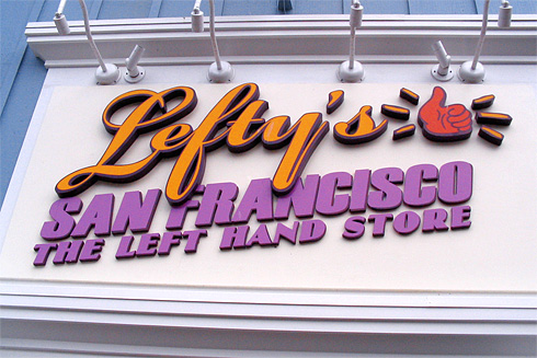 Lefty's San Francisco Store sign