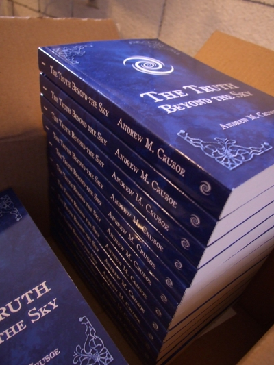 Stack of The Truth Beyond the Sky books