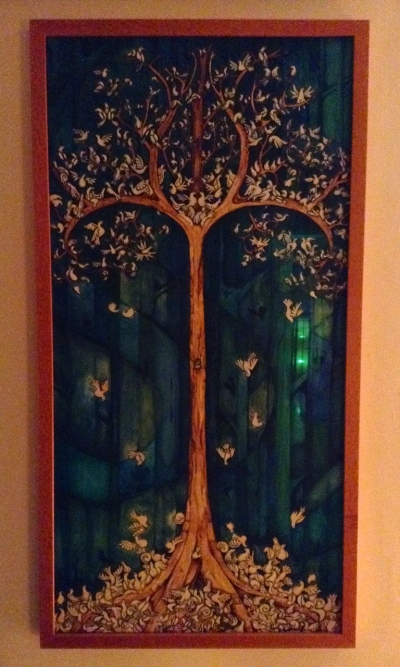 Doves in an Elvish Tree painting