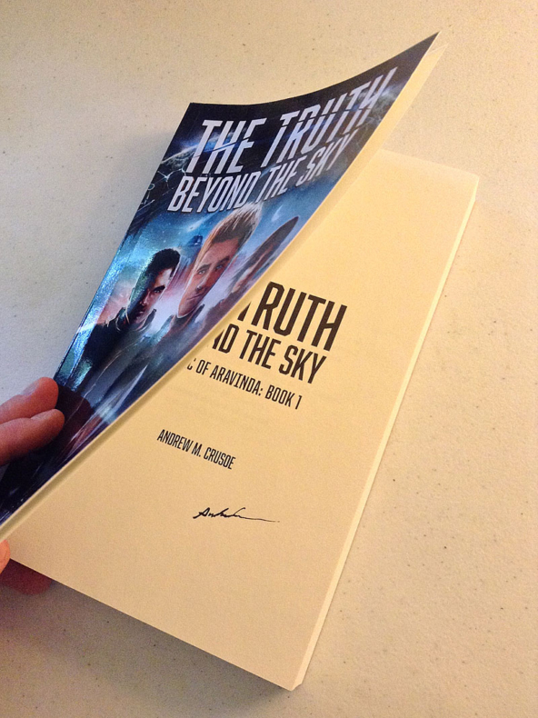 The Truth Beyond the Sky rare autographed paperback (front)