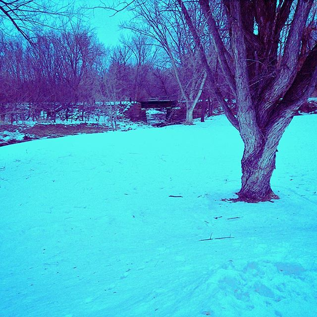 Photo:The Winter Blues in Wisconsin