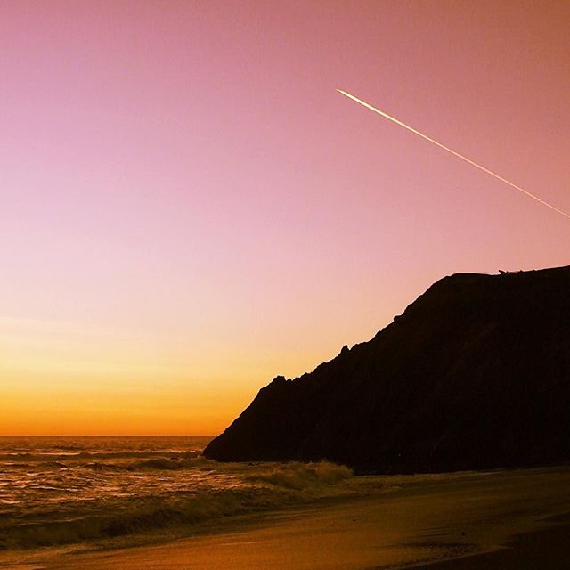 Stunning Sunset at Rodeo Beach in Marin County