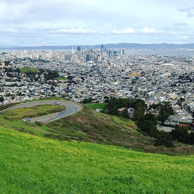 Lovely San Francisco skyline from Twin Peaks