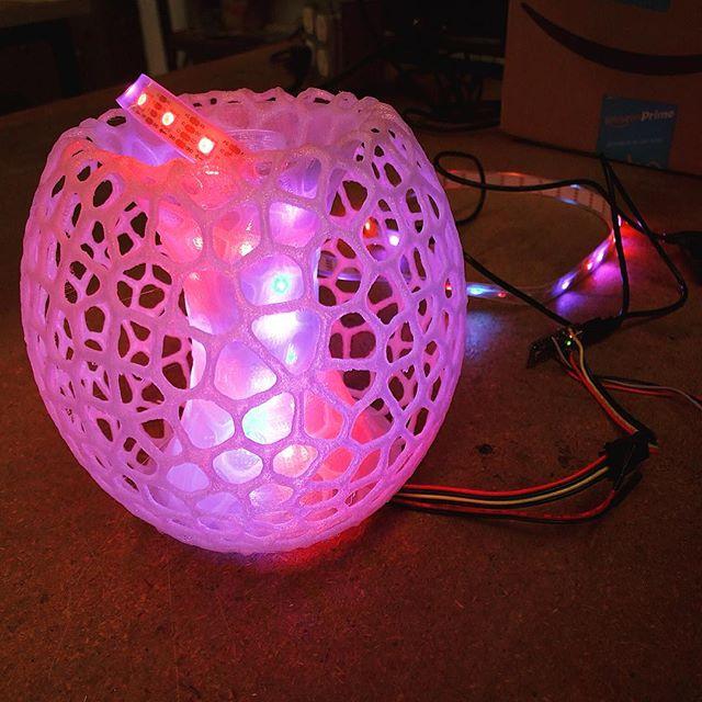 3D Printed LED Lamp (in progress) at TechShop in San Francisco