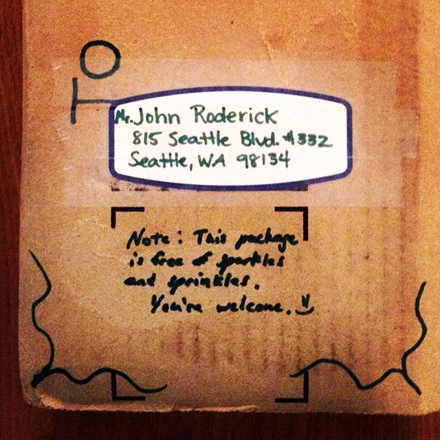 Package to John Roderick of The Long Winters (A Book Gift)