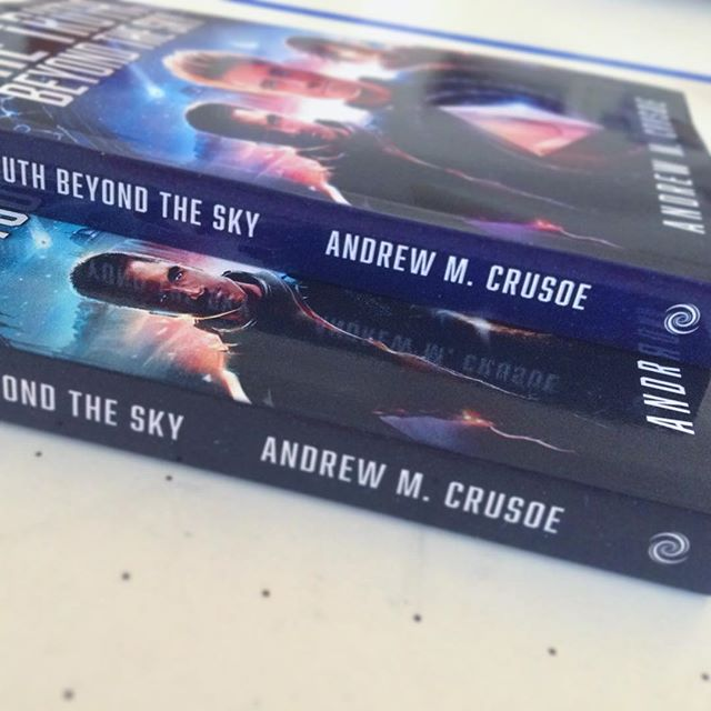 The Truth Beyond the Sky cover with a blue spine