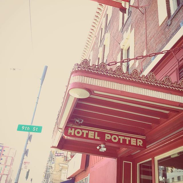 Walking by Hotel Potter in San Francisco, CA