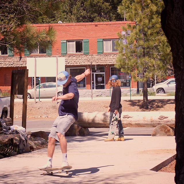 Skateboarders at Kings Beach near Lake Tahoe