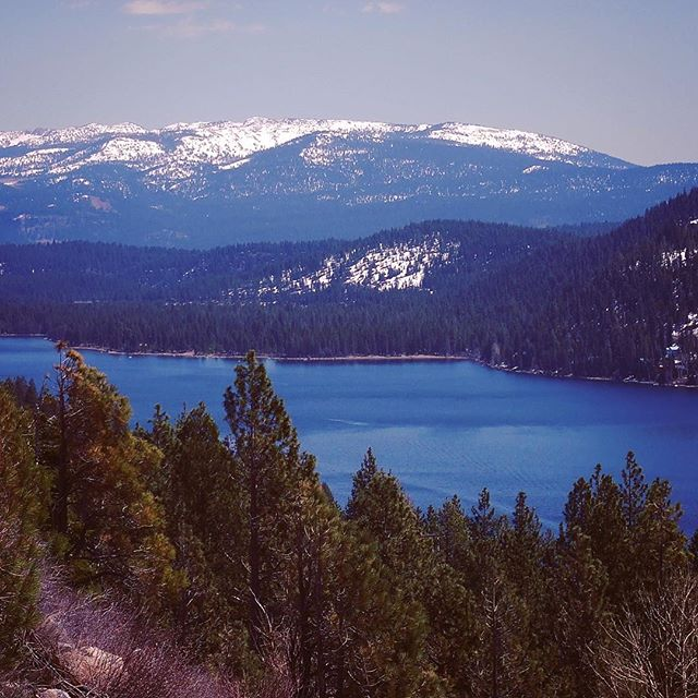 Donner Lake with the Sierras beyond