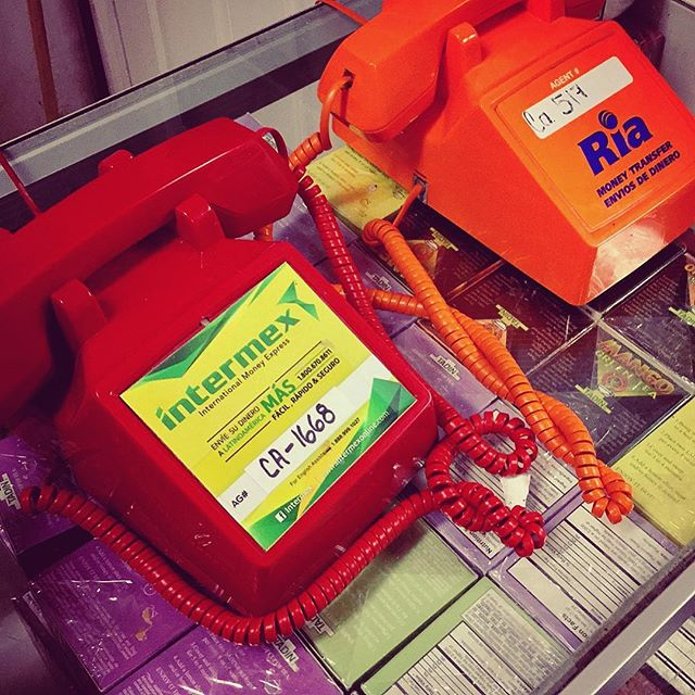 Red Intermex Money Transfer Phone (Orange Ria phone is a backup)