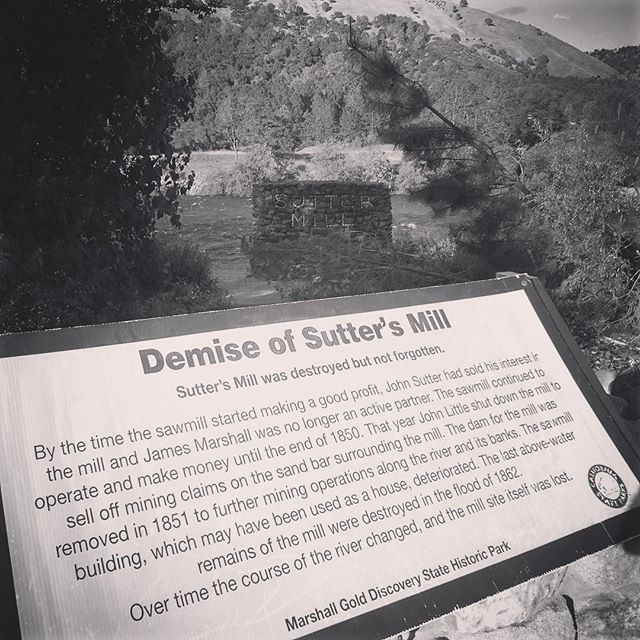 The Remnants of Sutter's Mill in Coloma, CA