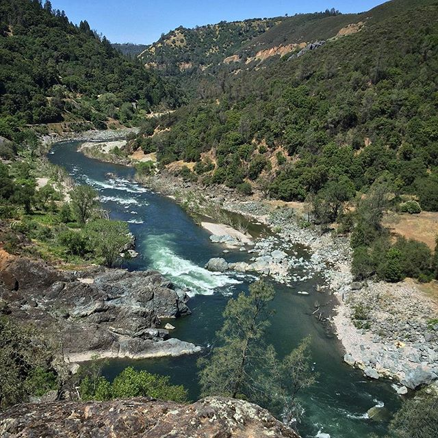 American River rushing through Auburn Canyon, Auburn, CA
