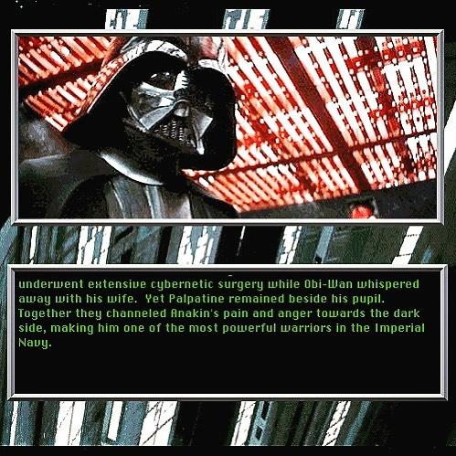 Did Obi-Wan take Vader's Wife? Star Wars Screen Entertainment Darth Vader bio said so