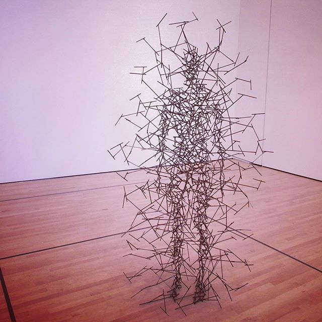 Quantum Cloud VIII by Antony Gormley in SF MOMA