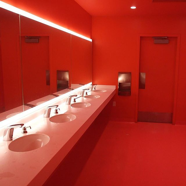 Found the Blood Red Bathroom from The Shining (SF MOMA)