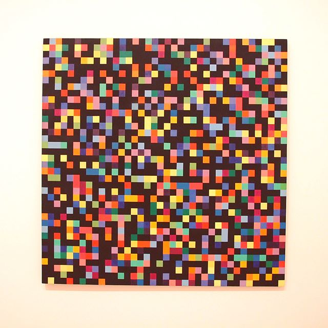 Spectrum Colors Arranged By Chance by Ellsworth Kelly at SFMOMA