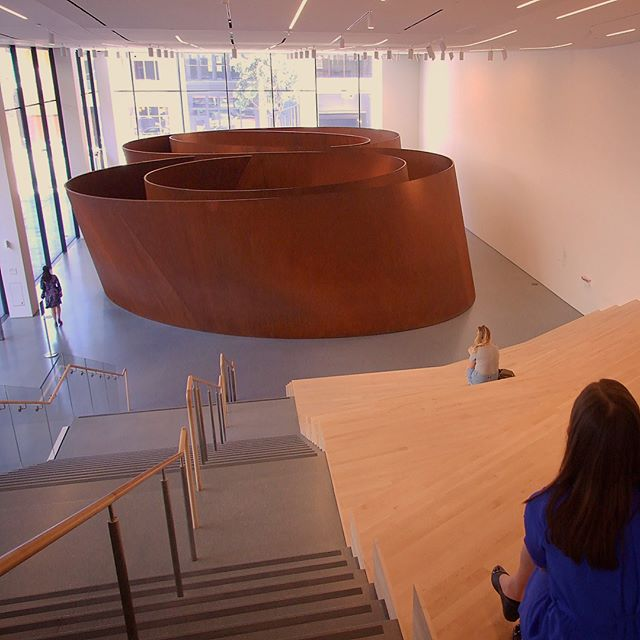 Sequence Interactive Steel Sculpture by Richard Serra at SFMOMA