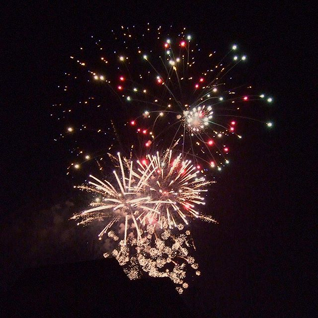Fireworks in commemoration for Pioneer Day