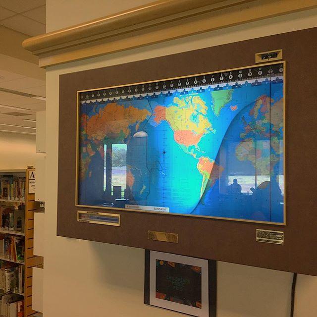 Fremont Main Library World Clock