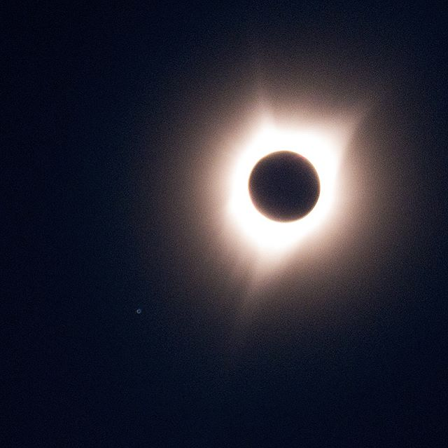 My 1st Shot of the Great American Eclipse during Totality