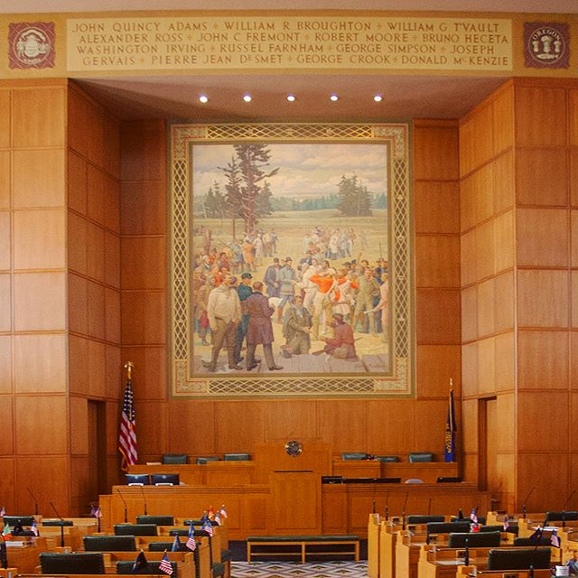 Barry Faulkner painting in Oregon House of Representatives (Salem, Oregon)