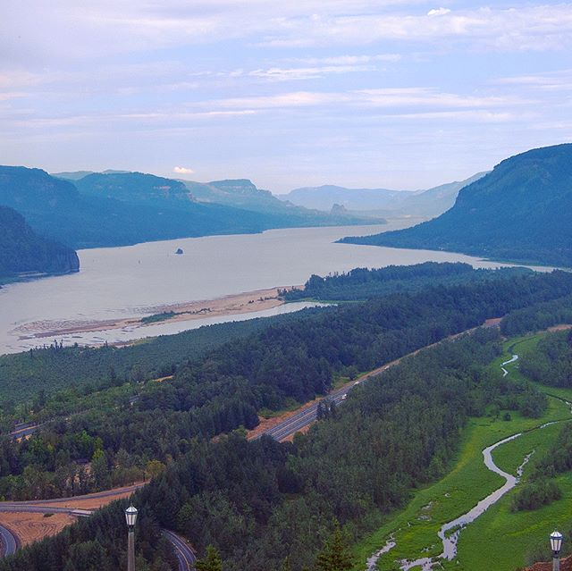 Crown Point overlooking Columbia River Gorge National Scenic Area